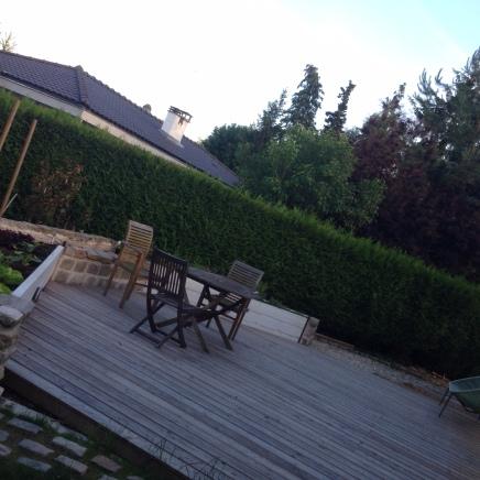 Terrasse avec potager