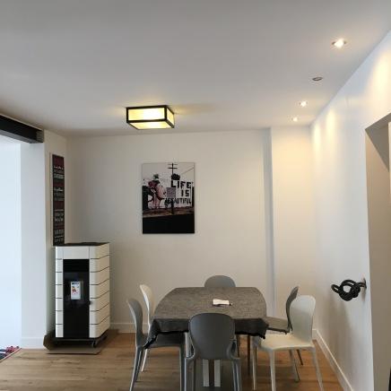 Salle à manger : Isolation, électricité, peinture. Démolition mur façade, mise en place IPN et création 30m2, Rueil malmaison
