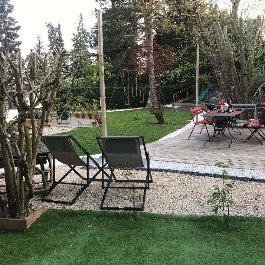 Terrasse bois sur plot Feucherolles